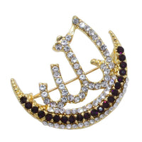 Crystal Brooch With Allah