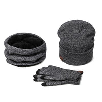 3 Pieces Women Hat Scarf & Touchscreen Gloves Set