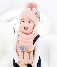 2 pcs Children scarf & hat set