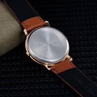 Charming Arabic Numeral Leather Watch