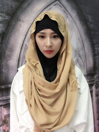 Cotton Hijab with Finges