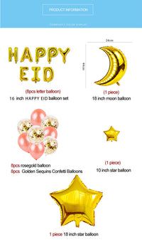 27pcs Happy Eid  Decor