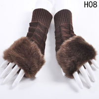Fingerless Faux Fur Gloves