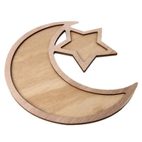 Wooden Crescent Moon & Star Serving Tray