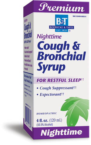Boericke & Tafel Liquid Nighttime Cough Bronchial Syrup - 4 oz.