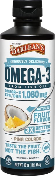 Barleans Seriously Delicious Omega-3 Fish Oil Piña Colada