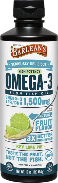 Barleans Seriously Delicious Omega-3 High Potency Fish Oil Key Lime Pie