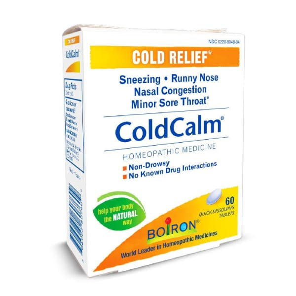 Boiron Coldcalm Cold & Flu Relief Quick Dissolve - 60 Tablets