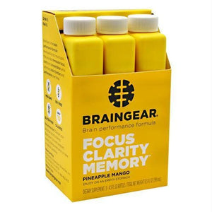 Brain Gear Braingear Pineapple Mango - Gluten Free - Liquid Shot