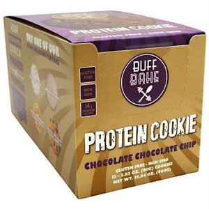 Buff Bake Protein Cookie Chocolate Chocolate Chip - Gluten Free - Snacks / Foods