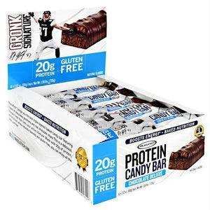 Muscletech Gronk Signature Protein Candy Bar Chocolate Deluxe - Gluten Free - Bars