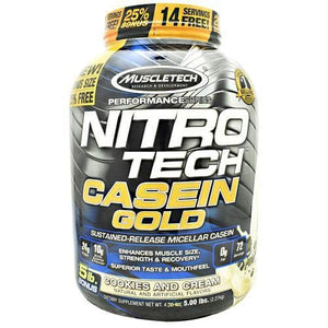Muscletech Performance Series Nitro Tech Casein Gold Cookies And Cream - Supplements