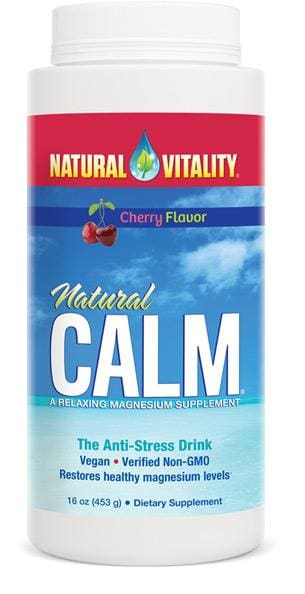 Natural Vitality Natural Calm Cherry Flavor - 16 Oz.