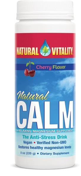 Natural Vitality Natural Calm Cherry Flavor - 8 Oz.