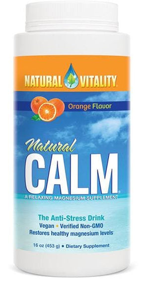 Natural Vitality Natural Calm Orange Flavor - 16 Oz.