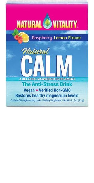 Natural Vitality Natural Calm Packets Raspberry Lemon Flavor - 5 Count