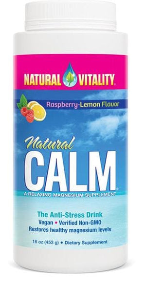 Natural Vitality Natural Calm Raspberry Lemon Flavor - 16 Oz.