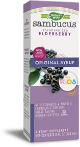 Natures Way Sambucus For Kids Original Syrup - 8 Oz. (240Ml)