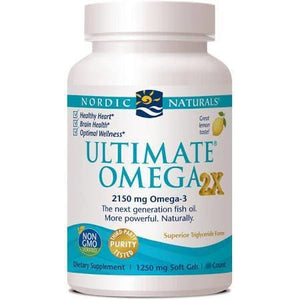 Nordic Naturals Ultimate Omega 2X Omega-3 Fish Oils - 120 Count