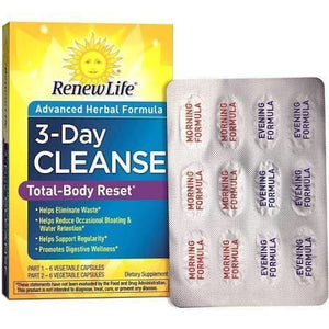Renew Life Total-Body Reset Detox 3 Day Cleanse Supplement