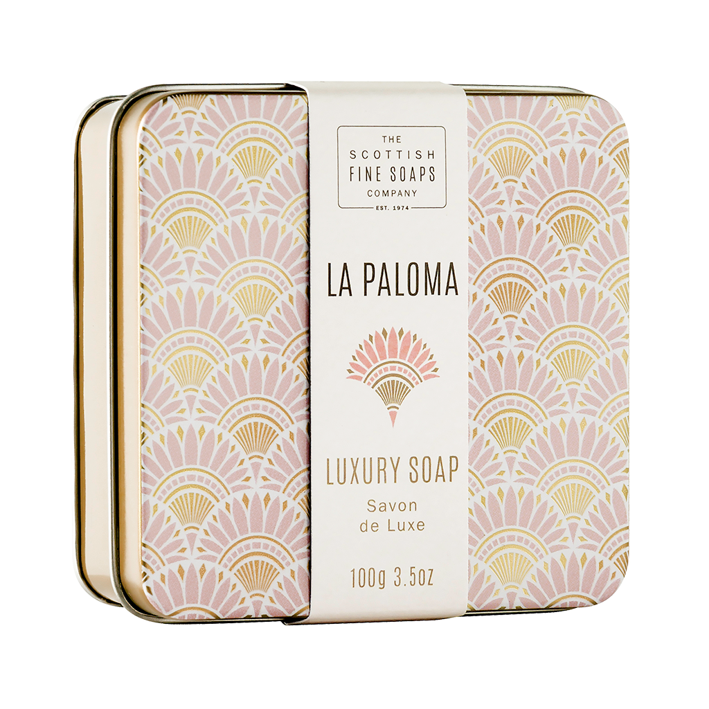 La Paloma Soap in a Tin