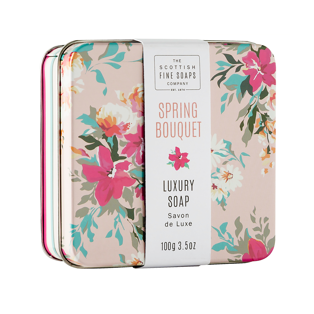 Spring Bouquet Soap in a Tin