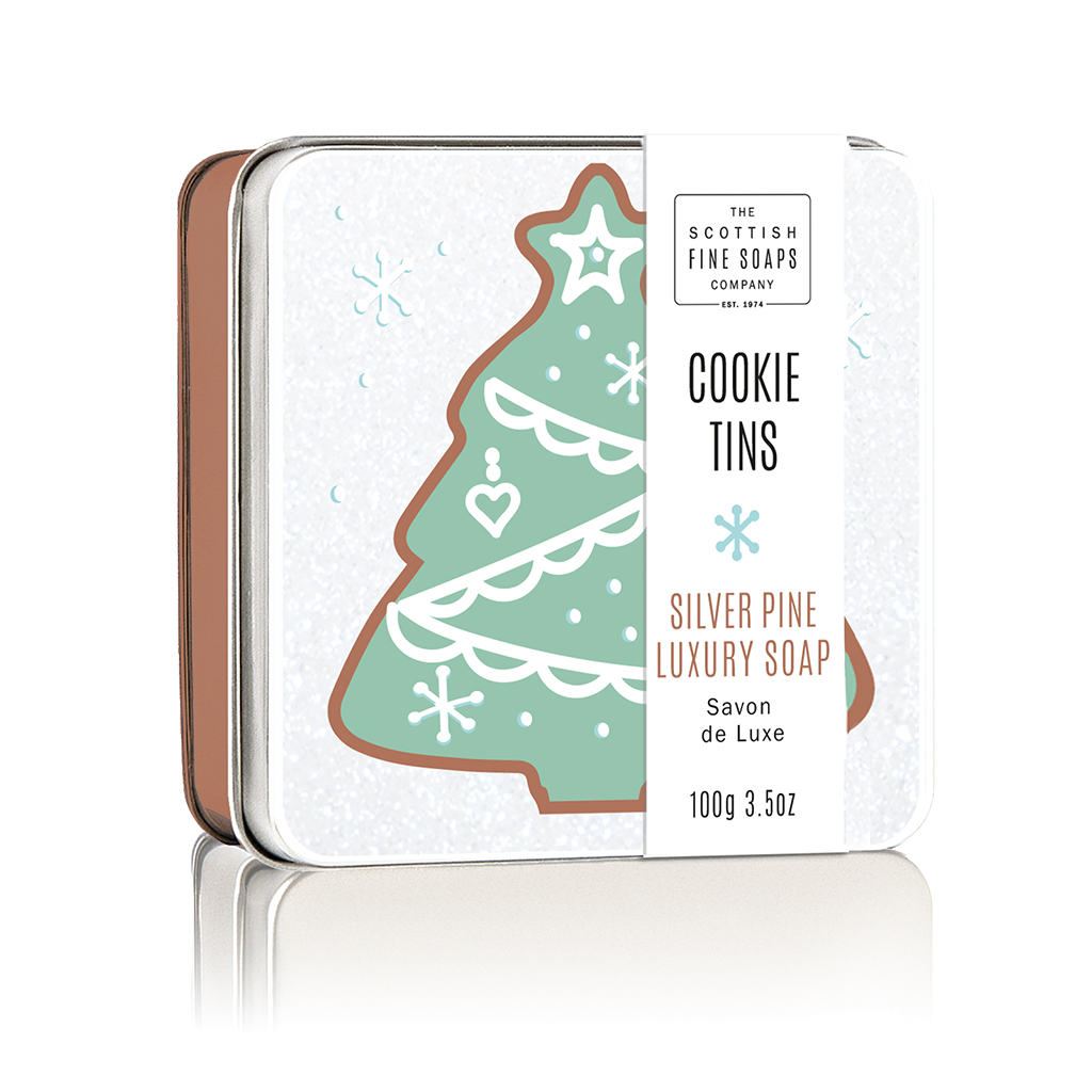 Silver Pine Cookie Soap in a Tin