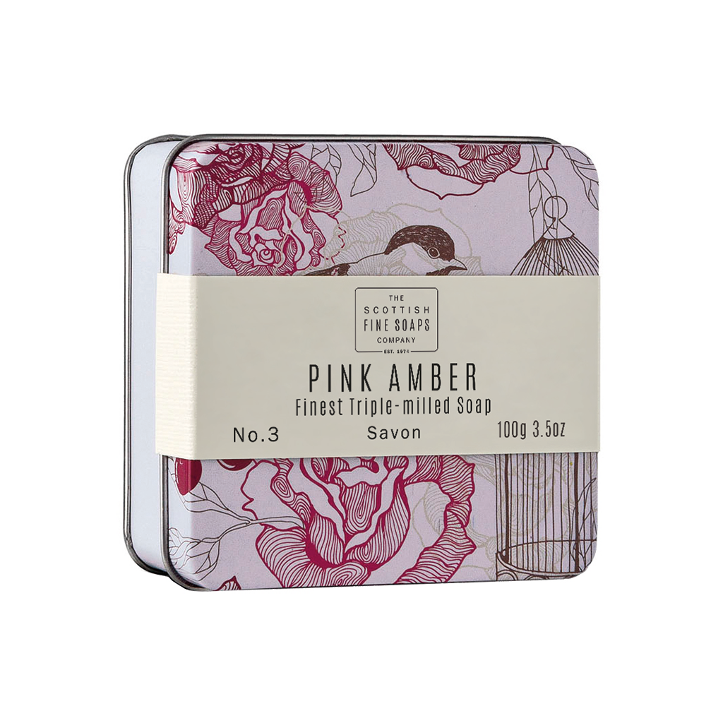 Pink Amber - Soap In A Tin