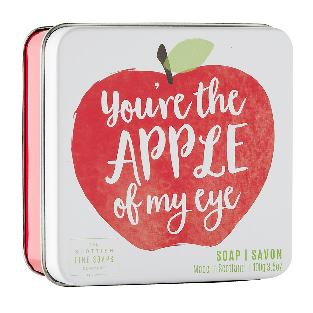 Apple Soap in a Tin