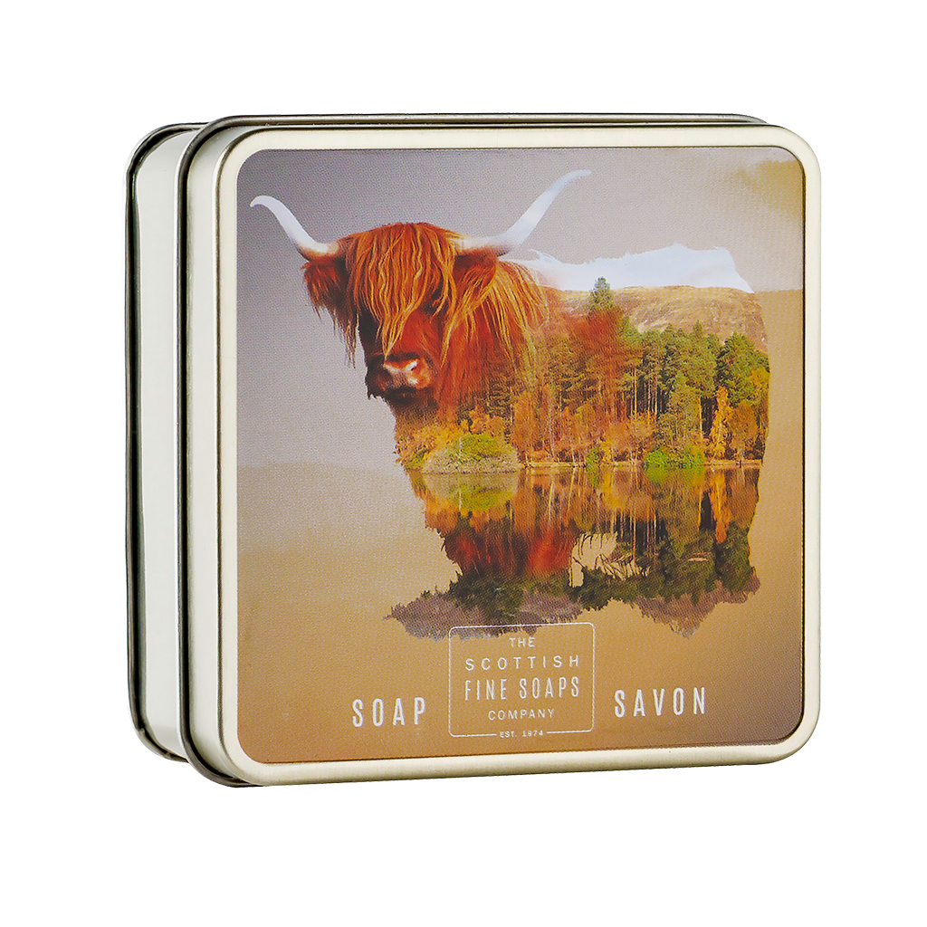 Highland Cow Soap in a Tin