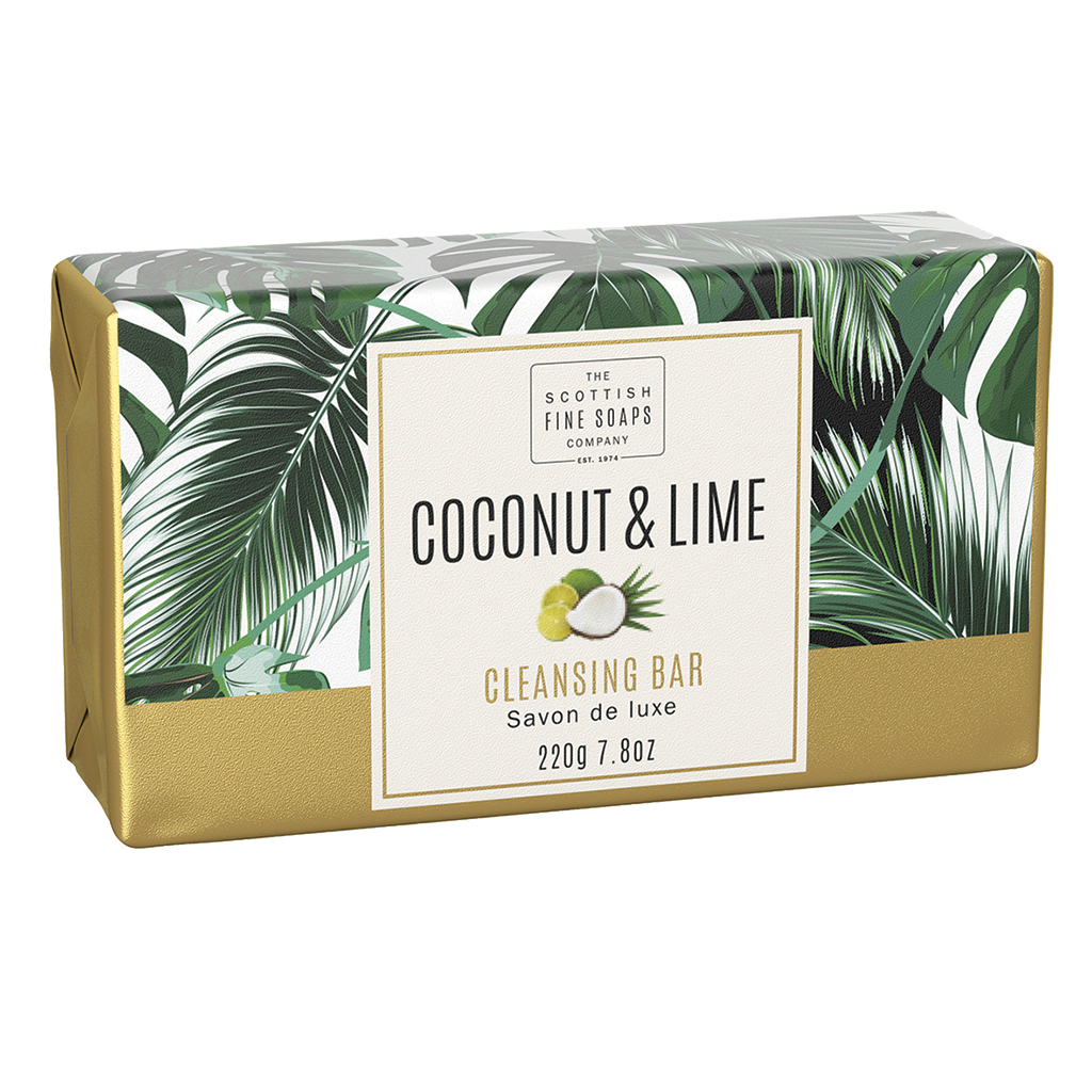 Coconut & Lime Cleansing Bar | Scottish Fine Soaps