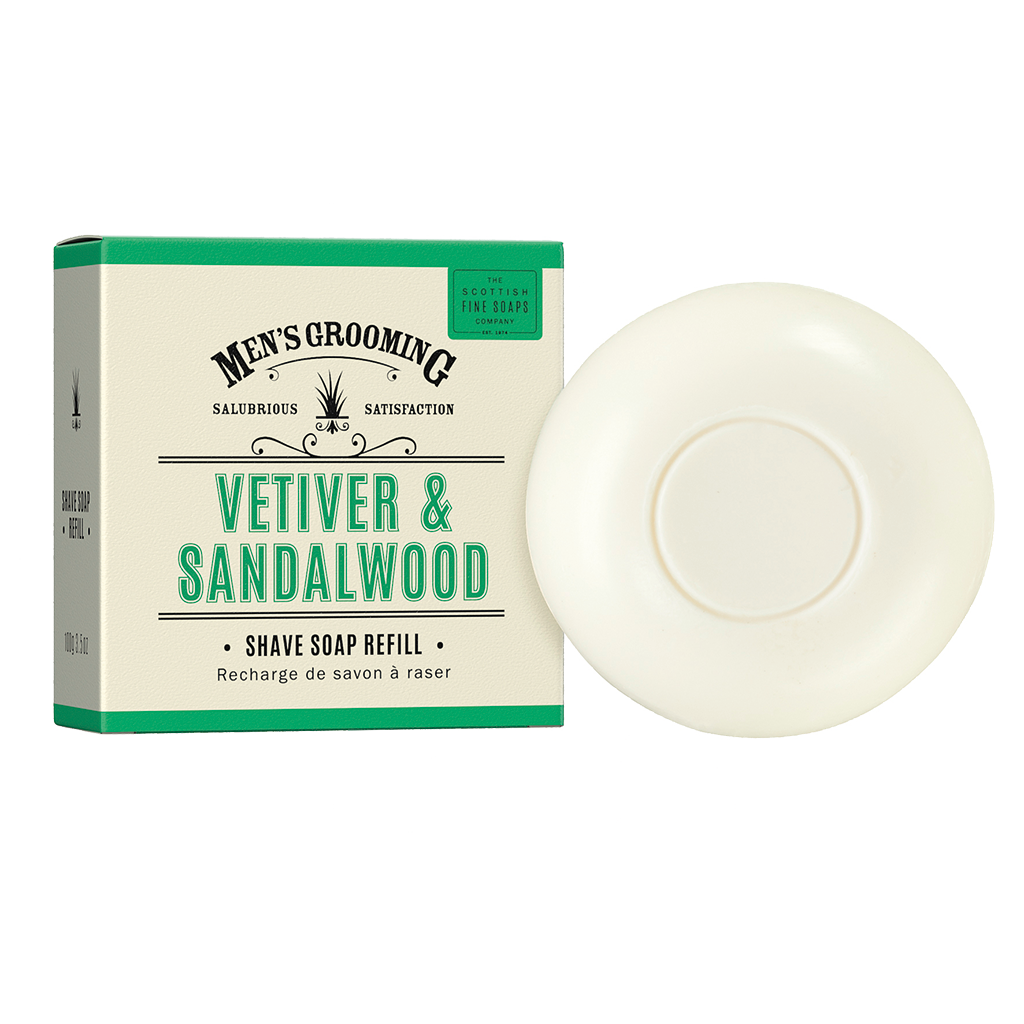 Vetiver & Sandalwood Shave Soap Refill