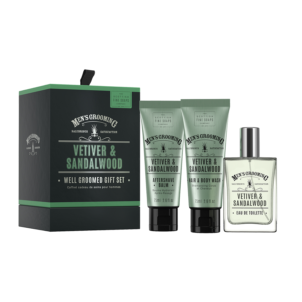 Vetiver & Sandalwood Well Groomed Gift Set