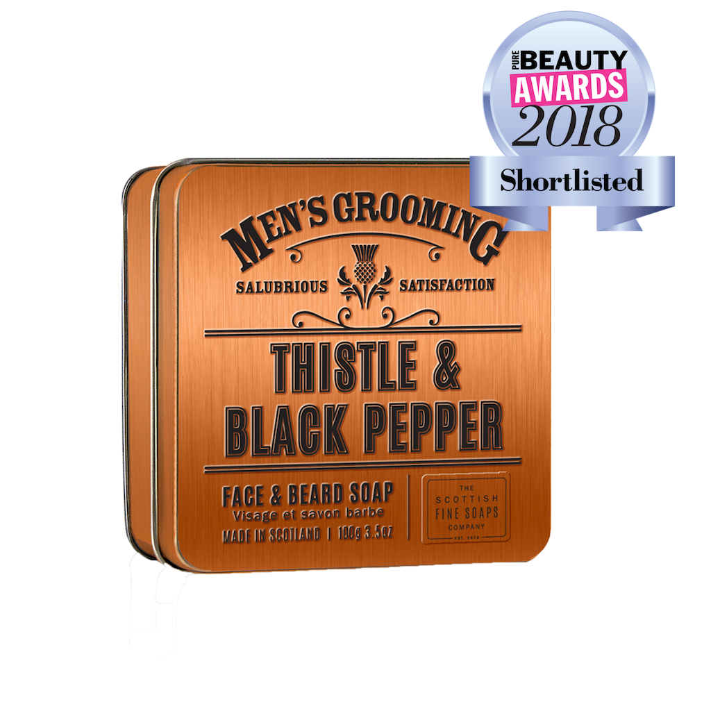 Thistle & Black Pepper Face & Beard Soap