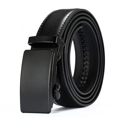 Genuine Leather Belts - Automatic Belt Adjustment - Just Click it to Your Size