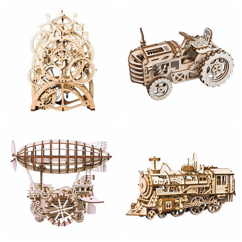 8 Choices DIY 3D Mechanical Wooden Puzzles