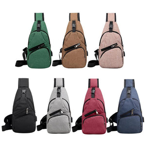 Stylish Design Casual Chest Bag with USB connection