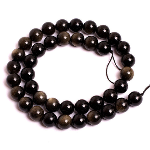 Obsidian Beads Bracelet - Choose Size