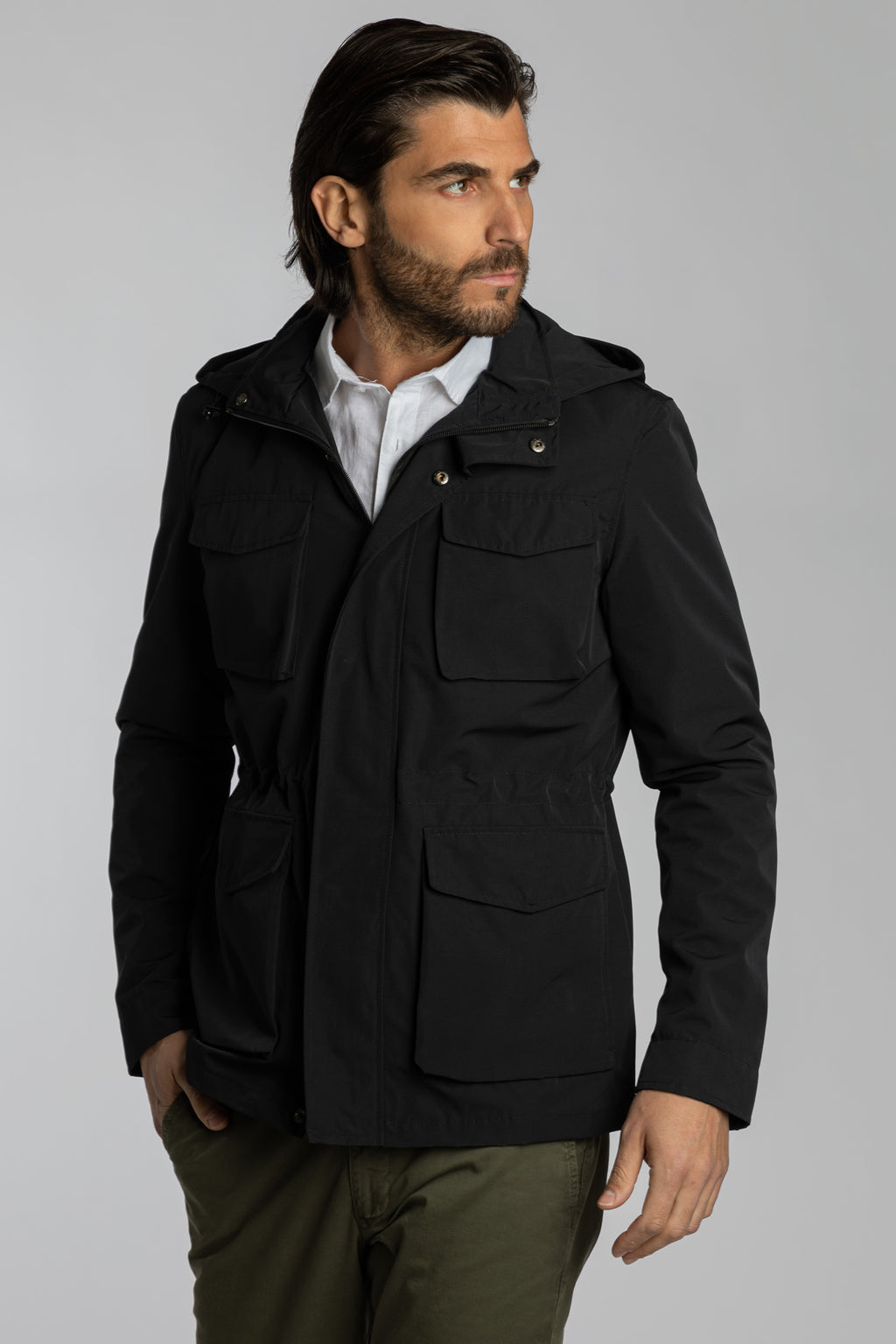 FIELD JACKET CON COULISSE