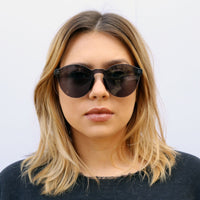 Classic Round Sunnies in Graphite