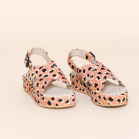 Sum Sandal in Peach Cheetah