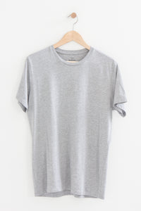 Heather Crew Tee in Heather Grey