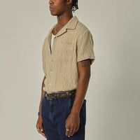 Drawstring Trousers in Black Pincord