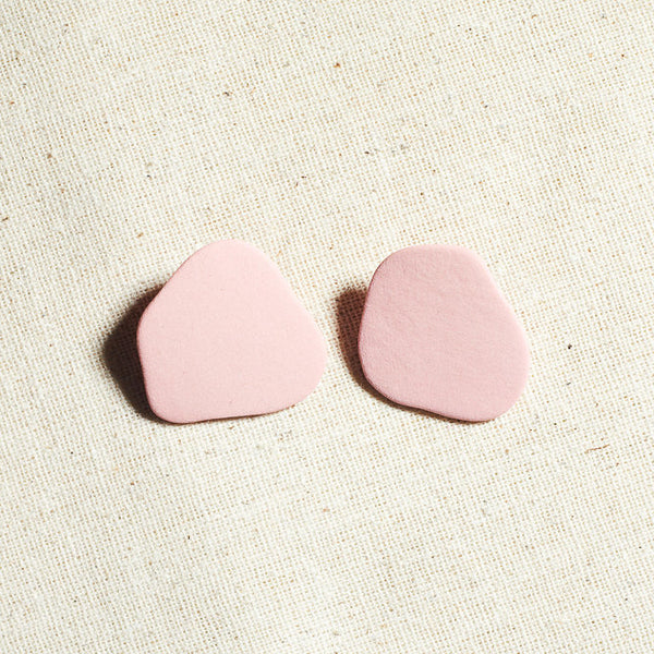 Blob Earrings in Pink