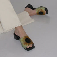Chess Sandals in Blue