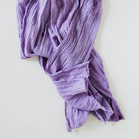 Plant Dyed Cotton Gauze Scarf in Lavender