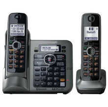 Load image into Gallery viewer, 2 Handsets Digital Wireless Cordless Phone DECT 6.0 link-to-cell Bluetooth Cordless Telephone With Call ID Answering system