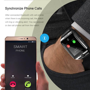 LEMFO Q18 Smart-Watch Camera Bluetooth Wristwatch Sim Card Smartwatch Connect Android Watch French Waterproof Wristwatches