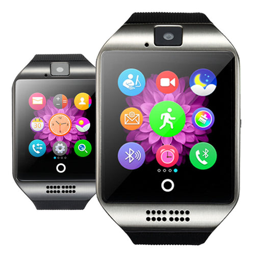 Bluetooth Smart Watch Q18 With Camera Facebook Whatsapp Twitter Sync SMS Smartwatch Support SIM TF Card For IOS Android