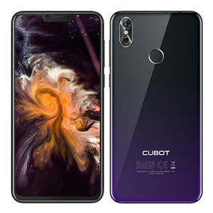 Cubot P20 6.18'' 19:9 Notch Screen 4GB 64GB MT6750T Octa-Core Smartphone Android 8.0 4000mAh 2246*1080 20MP+2.0MP 4G Telephone